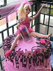 Drunk barbie cake topper bachelorette barbie cake
