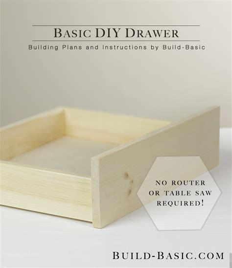 how to build a desk with drawers build a basic diy drawer build basic