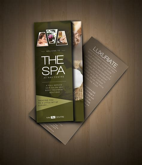 spa brochure nav spa brochure on behance