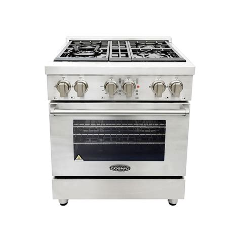 Oven Cosmos cosmo 30 in 3 9 cu ft single oven dual fuel range with 4 italian gas burners and convection