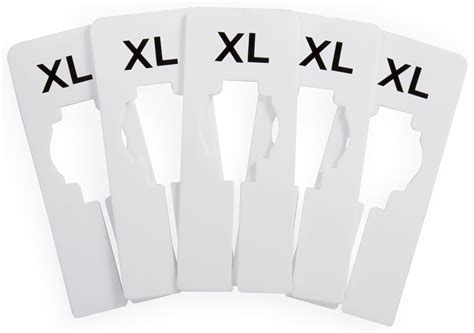Clothing Rack Dividers With Sizes by Clothing Rack Size Dividers Set Of 100 Rack Markers