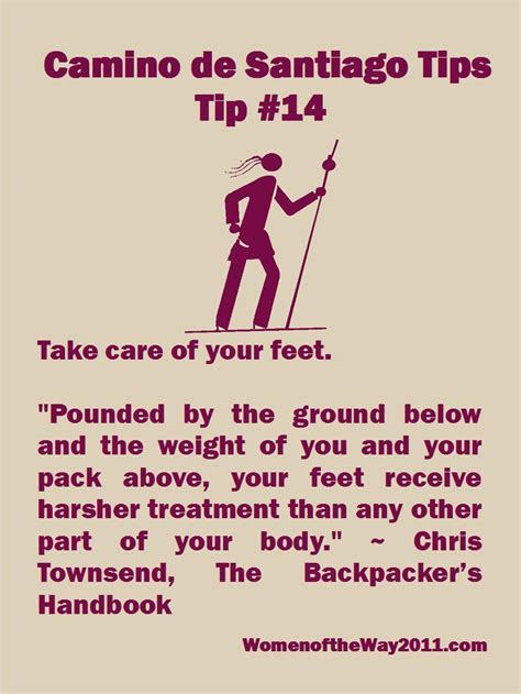 7 Tips On Taking Care Of Your by Camino Tip No 14 Take Care Of Your V Blanchard