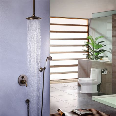 shower systems ceiling fair traditional ceiling mount shower