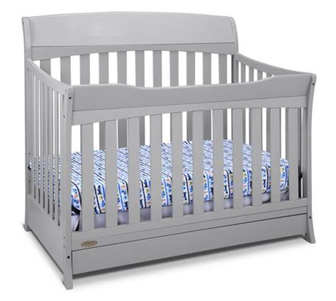 graco lennon 4 in 1 convertible crib with drawer pebble