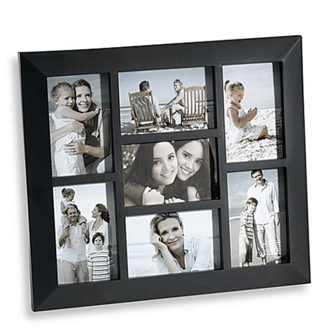 7 frame collage 7 opening collage frame in black bed bath beyond