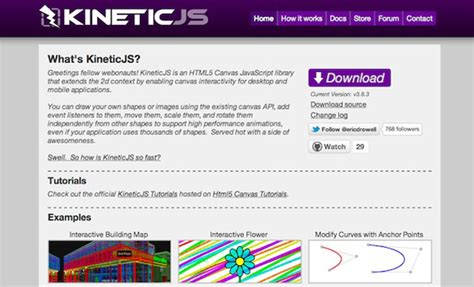 javascript kinetic tutorial kineticjs