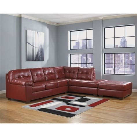ashley furniture 3 piece sectional ashley furniture alliston 3 piece leather sectional with