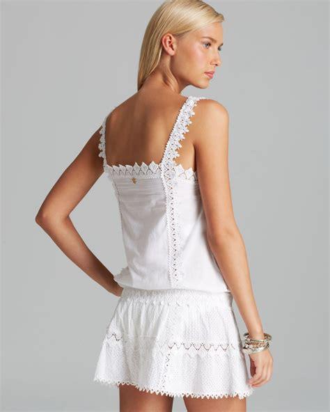 Swim Cover lyst ondademar hues swim cover up dress in white