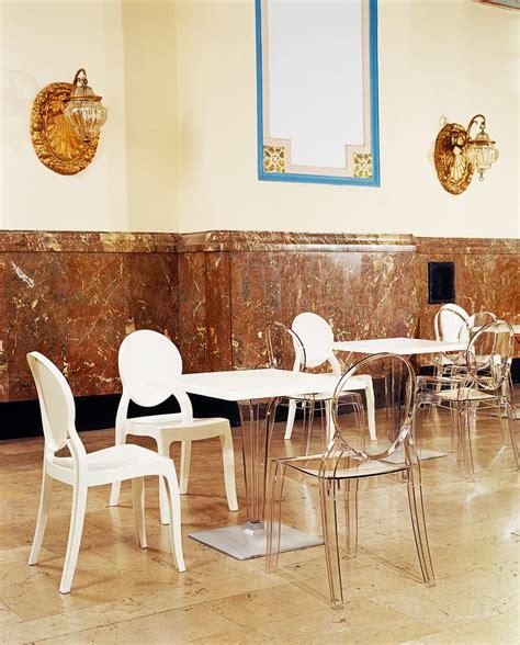 tavoli in policarbonato elizabeth sedie trasparenti per ristoranti e sale