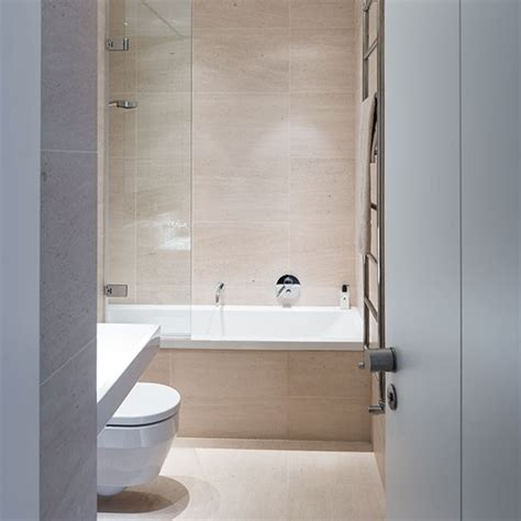 Neutral Bathroom - neutral bathroom with large format tiles decorating housetohome co uk