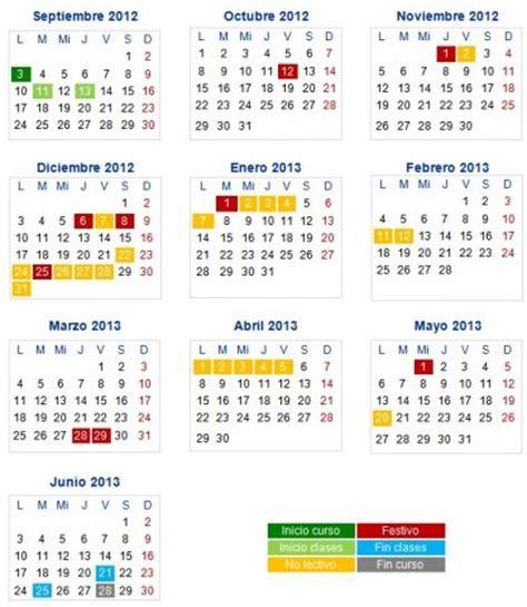 calendario de 2012 finanzas blog novoprimerciclo 187 calendario escolar 2012 2013
