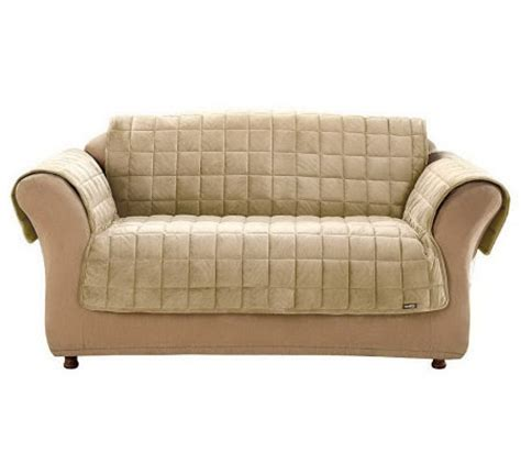 comfort couches sure fit deluxe pet comfort sofa cover page 1 qvc com