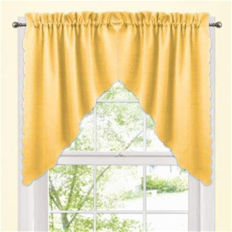 Yellow Valance For Bathroom Buy Yellow Valances For Windows From Bed Bath Beyond