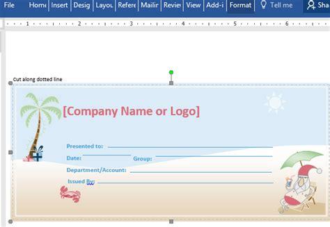 free sample christmas gift certificate lovely spa voucher template