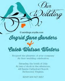 Wedding Invitations Queens Informal Wedding Invitation Wording Samples Wordings And Messages