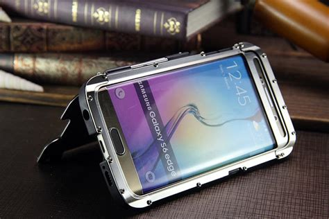 Samsung Galaxy S6 Iron Light Smart Flip Cover Dompet Sarunghp armor king iron luxury shockproof stainless steel aluminum metal f armor king