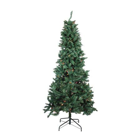 pre lit multi color led slim christmas tree 9 pre lit slim pine artificial tree multi color lights walmart