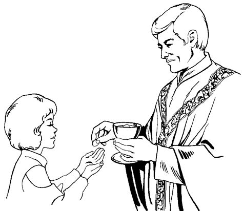 free coloring pages of first communion bread