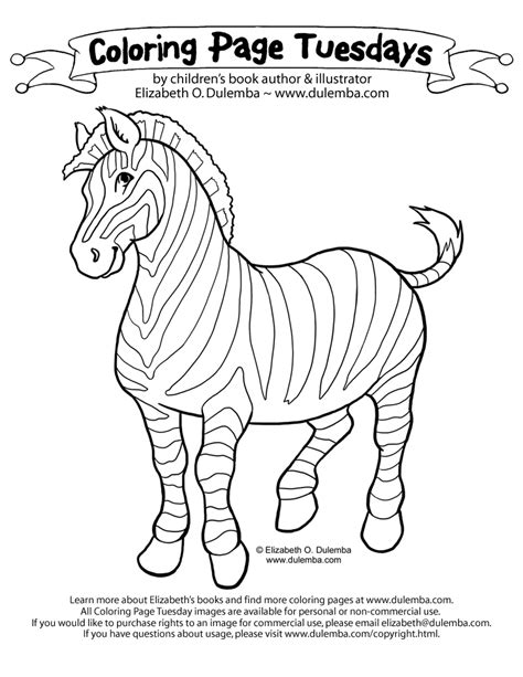 free coloring pages of cute baby zebra