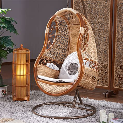 wicker swinging chair hanging indoor rattan swing chair chairs seating