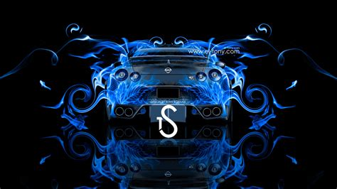 blue nissan gtr wallpaper nissan gtr r35 back view fire abstract car 2013 el tony