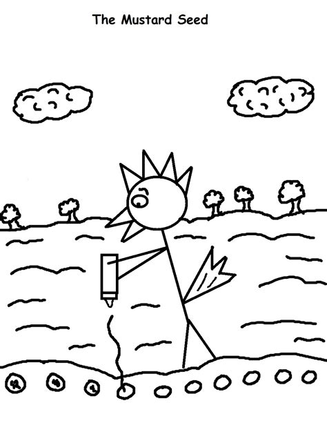 mustard tree coloring page the parable of the mustard seed sunday school lesson