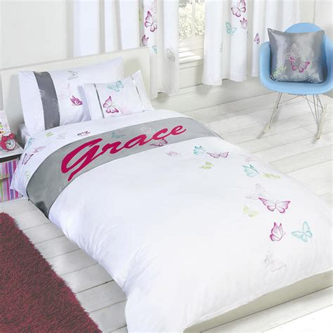 personalized bedding personalised butterfly duvet cover with pillow case