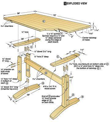 wood table plan project plans  wood tables  desks