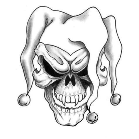 joker tattoo designs black white joker skull tattoo design