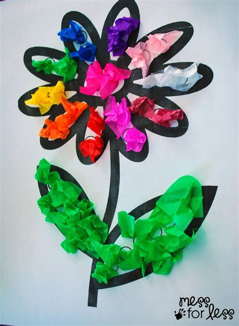 crafts flower 8 terrific tissue paper crafts for activities
