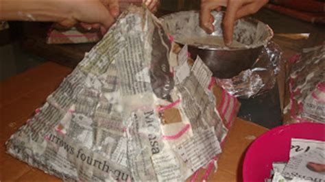 How To Make A Paper Mache Pyramid - at our house pyramid replicas