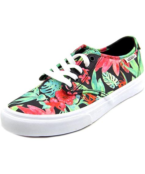 multi colored vans vans camden toe canvas multi color sneakers in