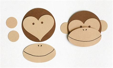 How To Make A Monkey Out Of Paper - monkey craft ted s