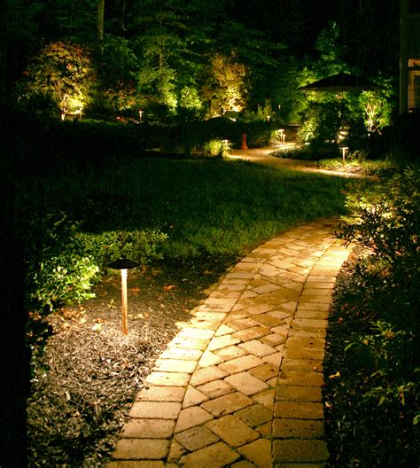 trees gardens and paths outdoor lighting perspectives