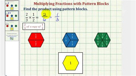 youtube pattern blocks ex multiplying fractions using pattern blocks youtube