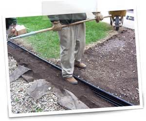 Laying Landscape Edging Edging Install Basics Landscape Edging Lawn Edging