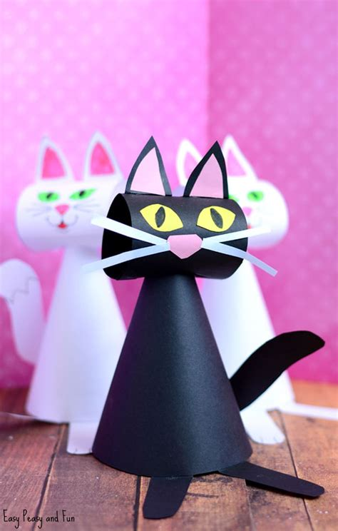 Cat Paper Craft - paper cat craft template easy peasy and