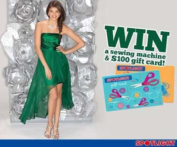 Spotlight Gift Card - spotlight win a sewing machine and 200 spotlight gift card australian competitions