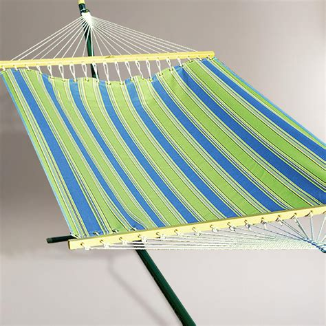 Hammock Material 2 Person 11 Fabric Hammock Green And Blue Stripe World