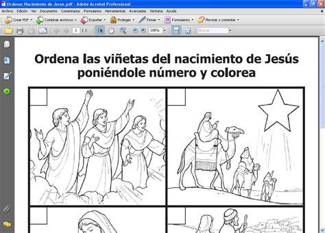 imagenes de las escenas del nacimiento de jesus profesor de ere ordenar el nacimiento de jesus