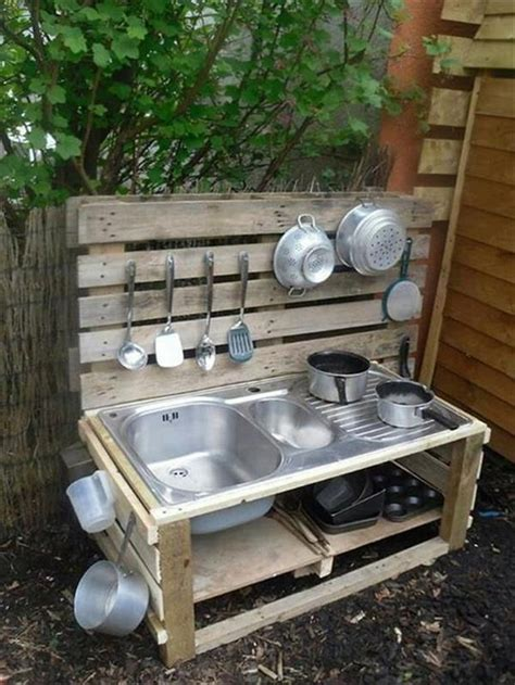 Kitchen Projects Ideas Recycled Pallet Wood Outdoor Kitchen Pallet Wood Projects