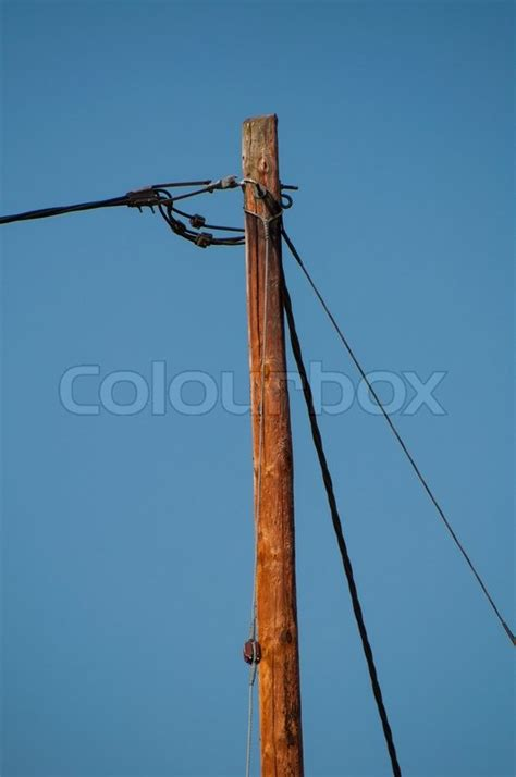 electric pole wires telephone pole and wires stock photo colourbox