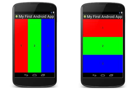 lesson how to build android app with linearlayout plus layout orientation size and weight - Android Linearlayout