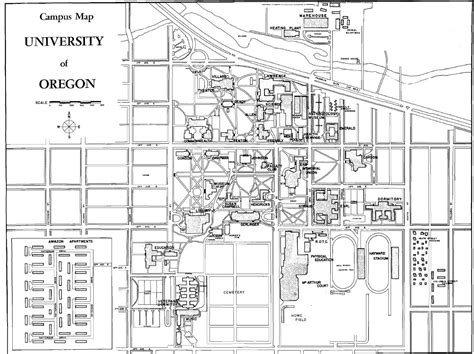 uoregon map of oregon cus maps architecture of the