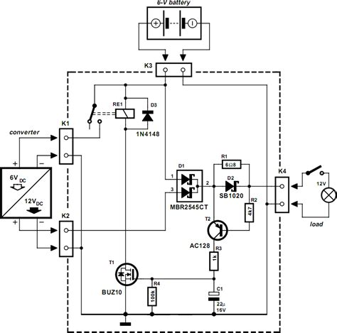 automatic switch for voltage converters circuit diagram