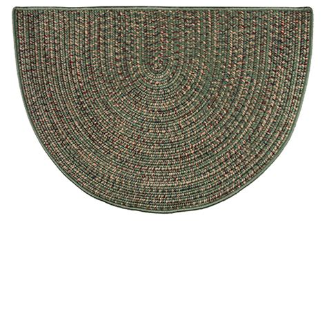 Goods Of The Woods Hearth Rugs by Goods Of The Woods Green Braided Polyester Half
