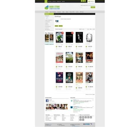 Opencart Bookstore Template by Bookstore Opencart Theme 1 5 6 4