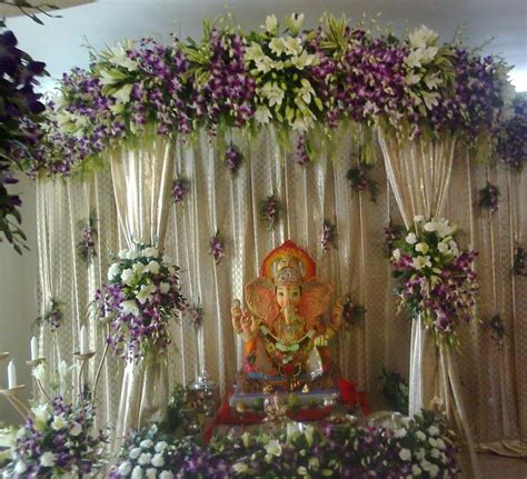 flower decorations eco friendly ganpati decoration ideas for home