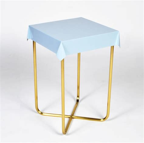 drape table drape side table pink brass for sale at 1stdibs