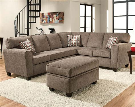 Light Gray Two Piece Couch Mickey Pewter Two Piece Sectional Sofa